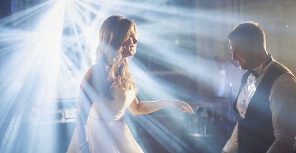 smoke machines in action wedding reception video